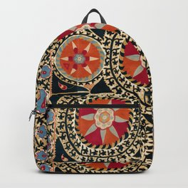 Katti Kurgan Suzani Uzbekistan Embroidery Print Backpack