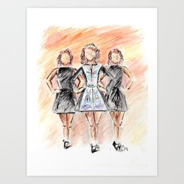 Irish Dancers Art Print