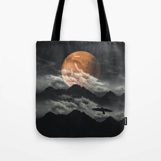 Spaces III - Mars above mountains Tote Bag
