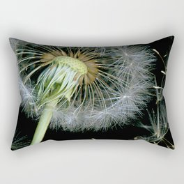 Dandelion Seeds Blowing in the Wind, Scanography Rectangular Pillow