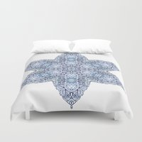 snowflake Duvet Covers featuring Snowflake by Awispa