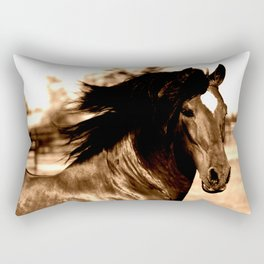 Horse print horse photography equestrian art sepia Poster Rectangular Pillow