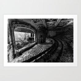 Abandoned Auditorium Art Print