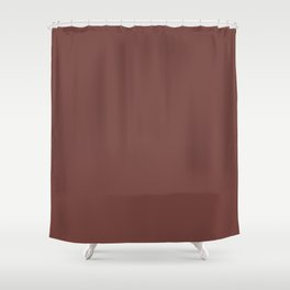 Dunn & Edwards 2019 Trending Colors Rocky Mountain Red DET442 Solid Color Shower Curtain