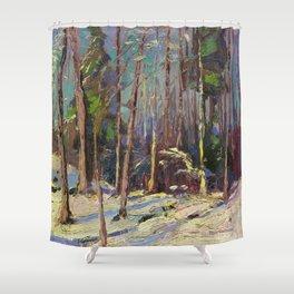 Tom Thomson Larry Dickson's Shack 1914 Canadian Landscape Artist Shower Curtain