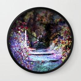 Secret Garden Path Purple Dream Photography Wall Clock