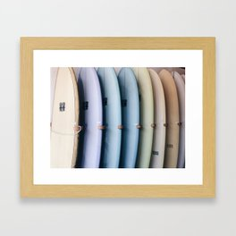 SURF'S UP / Los Angeles, California Framed Art Print