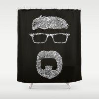 dad Shower Curtains featuring Dad by FemkeGielkens