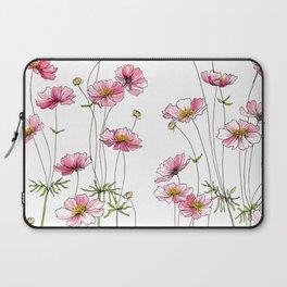 Pink Cosmos Flowers Laptop Sleeve