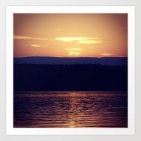 Canada Sunset Art Print
