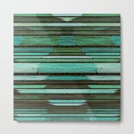 Green Slats Metal Print