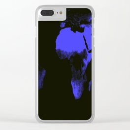 WoRLD MAP black & violet Clear iPhone Case
