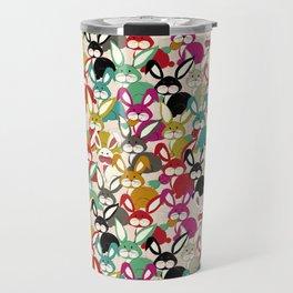 Colored  Easter bunny seamless pattern Travel Mug