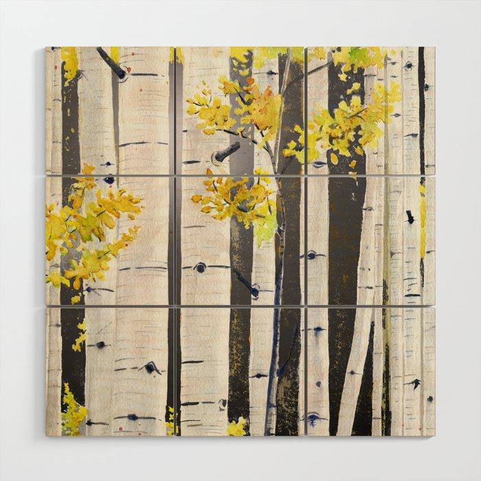 Birch Tree Wood Wall Art by mellyterpening | Society6