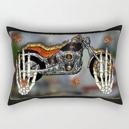 Sinister Chrome Rectangular Pillow