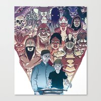 dungeons and dragons Canvas Prints featuring Dungeons & Dragons by Steven P Hughes