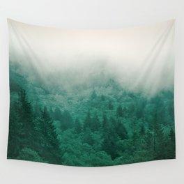 Misty Moody Mountain Forest Fog Northwest Oregon Washington Wall Tapestry
