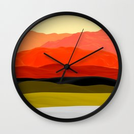 Mountains in Gradient Wall Clock