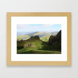 Green Hills Scotland - Travel Photo Framed Art Print