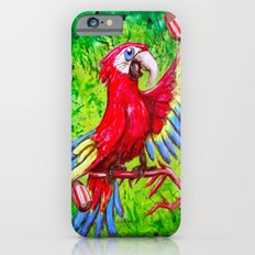 Tropical Parrot with Maracas  Slim Case iPhone 6s