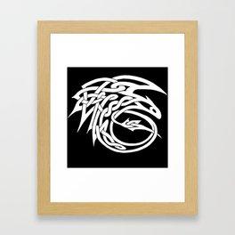 Celtic Knotwork Toothless (WHITE) Framed Art Print