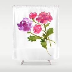 Floral No. 1 Shower Curtain