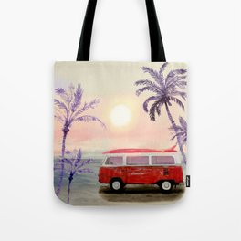 Beach Van Tote Bag