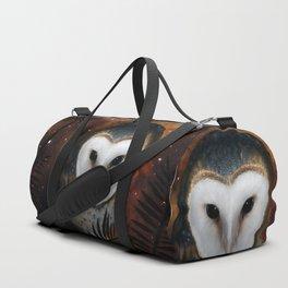 Barn owl at night Duffle Bag