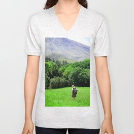The road untraveled Unisex V-Neck