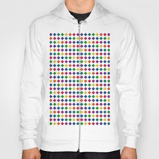 Colorful Seamless Rectangular Geometric Pattern Hoody