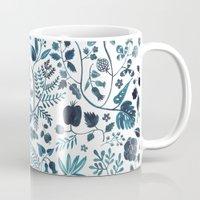 oana befort Mugs featuring Blue Meadow by Oana Befort