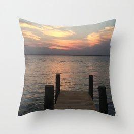 Baesic Lonely Dock Throw Pillow