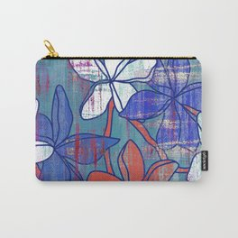 Red and blue floral print Carry-All Pouch