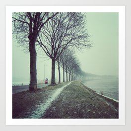 Winter convergence Art Print