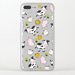 The Farm Pattern Clear iPhone Case