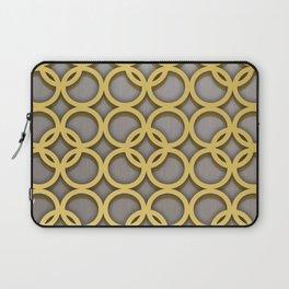 Intertwinning Gold Circles Laptop Sleeve