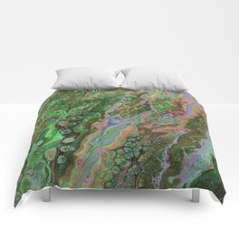 Green Inverted Pour 6 Comforters