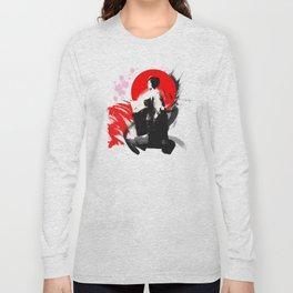 Japanese Geisha - Sakura Kyoto Long Sleeve T-shirt