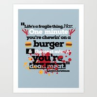 dumb and dumber Art Prints featuring Dead Meat - Dumb and Dumber by Panda McFan