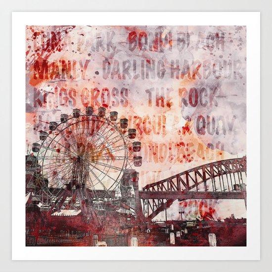 Sydney Luna Park Art Print