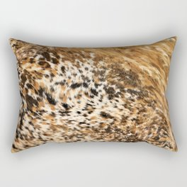 Rustic Country Western Texas Longhorn Cowhide Rodeo Animal Print Rectangular Pillow