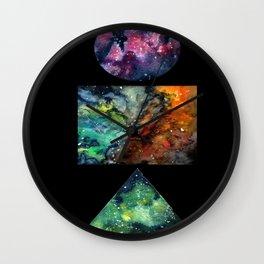 itty bitty galaxies Wall Clock