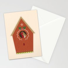 Red Bird House Stationery Cards