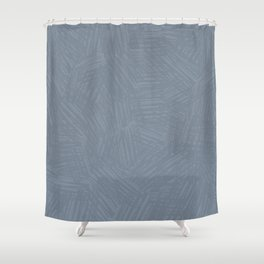 Light Slate Gray Marks Shower Curtain