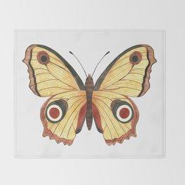 Juno Butterfly Illustration Throw Blanket