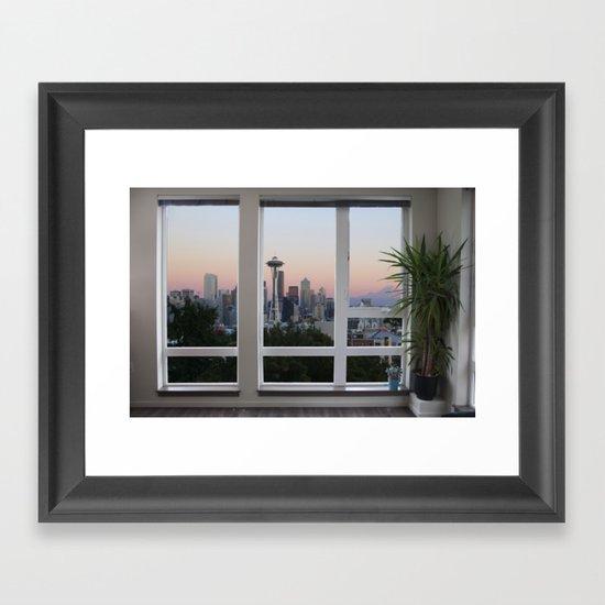 Seattle Skyline Window View by summerruns800
