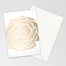 Rose White Gold Sands on White Stationery Cards