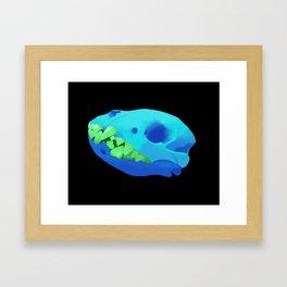 spotted hyena skull Framed Art Print
