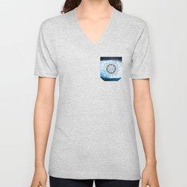 Windrose blue version Unisex V-Neck