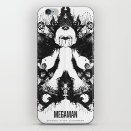 Megaman Geek Ink Blot Test iPhone Skin
